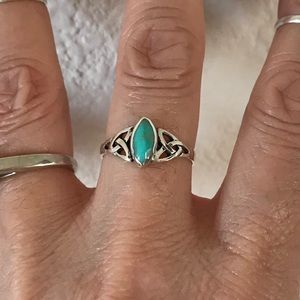 Jewelry - Sterling Silver Celtic Ring with Turquoise